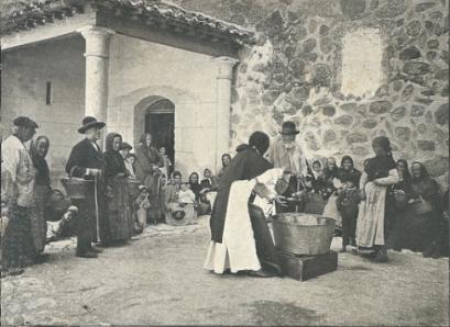 Reparto de la sopa boba a los pobres. Redondo de Zuñiga