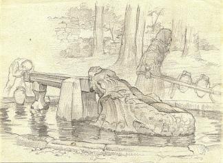 Dibujo de Antonio Veredas (1915)