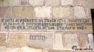 Inscripción de la sepultura del judío